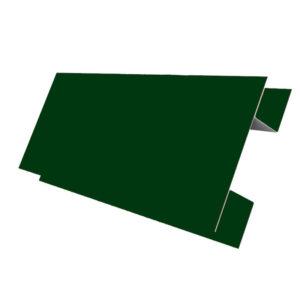 Планка стыковочная сложная 75х3000 Полиэстер зеленый 6005