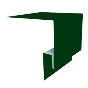 Планка откоса сложная 3D 245х75х2000 Полиэстер зеленый 6005