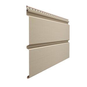 Docke сайдинг Premium Профилированный брус D6S крем-брюле