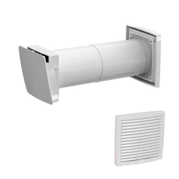 Приточный клапан с термостатом Vilpe WIVE 100 с белой решеткой