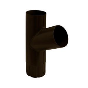 Grand Line тройник трубы Ø125/90 мм RR 32 темно-коричневый