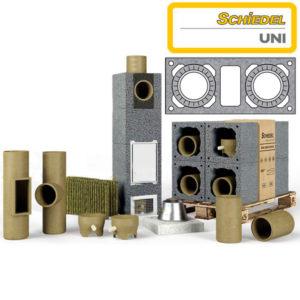 Schiedel UNI основание 3 м.п. двухходового дымохода с вентиляцией Ø200/200 мм