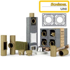Schiedel UNI основание 3 м.п. двухходового дымохода без вентиляции Ø200/200 мм
