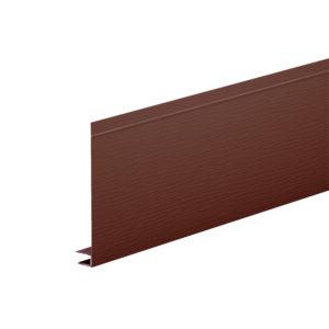 J-фаска алюминиевая 2 метра Aquasystem коричневый