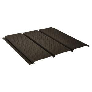 Aquasystem металлический софит с полной перфорацией Polyester Matt темно-коричневый