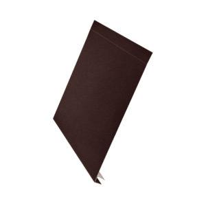 J-фаска металлическая 2 метра Aquasystem Polyester Matt темно-коричневый 32