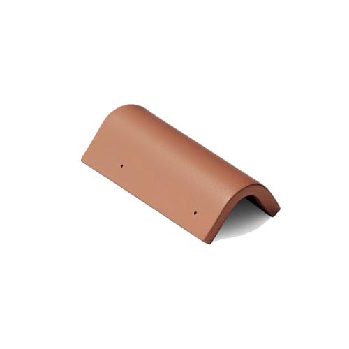 Боковая цементно-песчаная черепица Braas коричневый