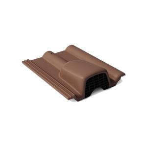 Вентиляционная черепица Braas франкфуртская темно-коричневый