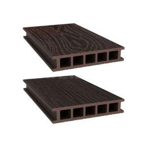 Террасная доска двухсторонняя Savewood Fagus темно-коричневый
