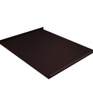Двойной стоячий фальц коричневый RAL8017