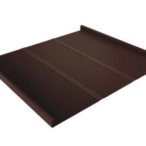 Двойной стоячий фальц Line коричневый RAL8017