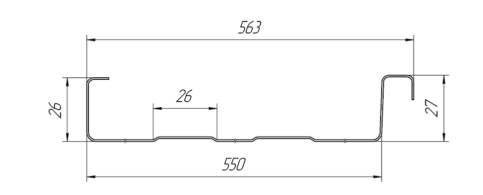 Двойной стоячий фальц Line