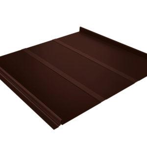 Кликфальц Line коричневый RAL8017